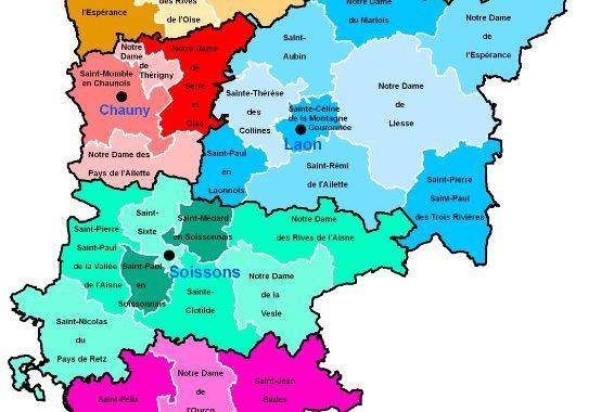 Carte du diocèse