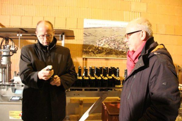 Visite chez un viticulteur