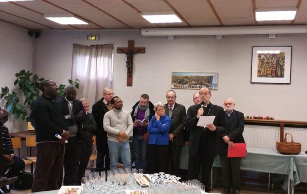 Mgr Renauld de Dinechin présente ses voeux au clergé