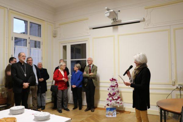 Véronique DE WULF présente les voeux de la Curie diocésaine au Père évêque