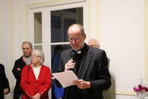 Mgr Renauld de Dinechin présente ses voeux à la Curie diocésaine