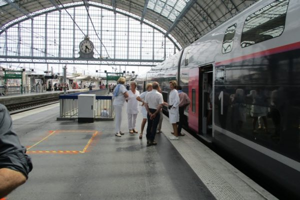 Gare de Bordeaux au début des 3 heures d'attente